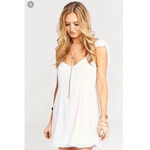 NWT SMYM Delilah Dress in Chiffon White